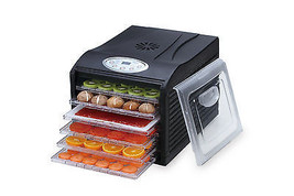 """Samson """"Silent"""" 6 Tray Dehydrator with Digital Controls Quiet and Conven... - £84.37 GBP"""
