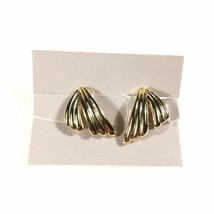 Vintage 1988 Avon Tailored Elegance Gold-Tone Clip Earrings NEW IN BOX - $4.95