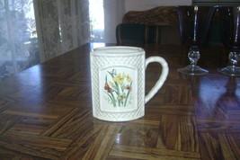 Vintage 1978 Enesco Butterfly Garden Trellis Bamboo Ceramic Cup Made in ... - $8.70
