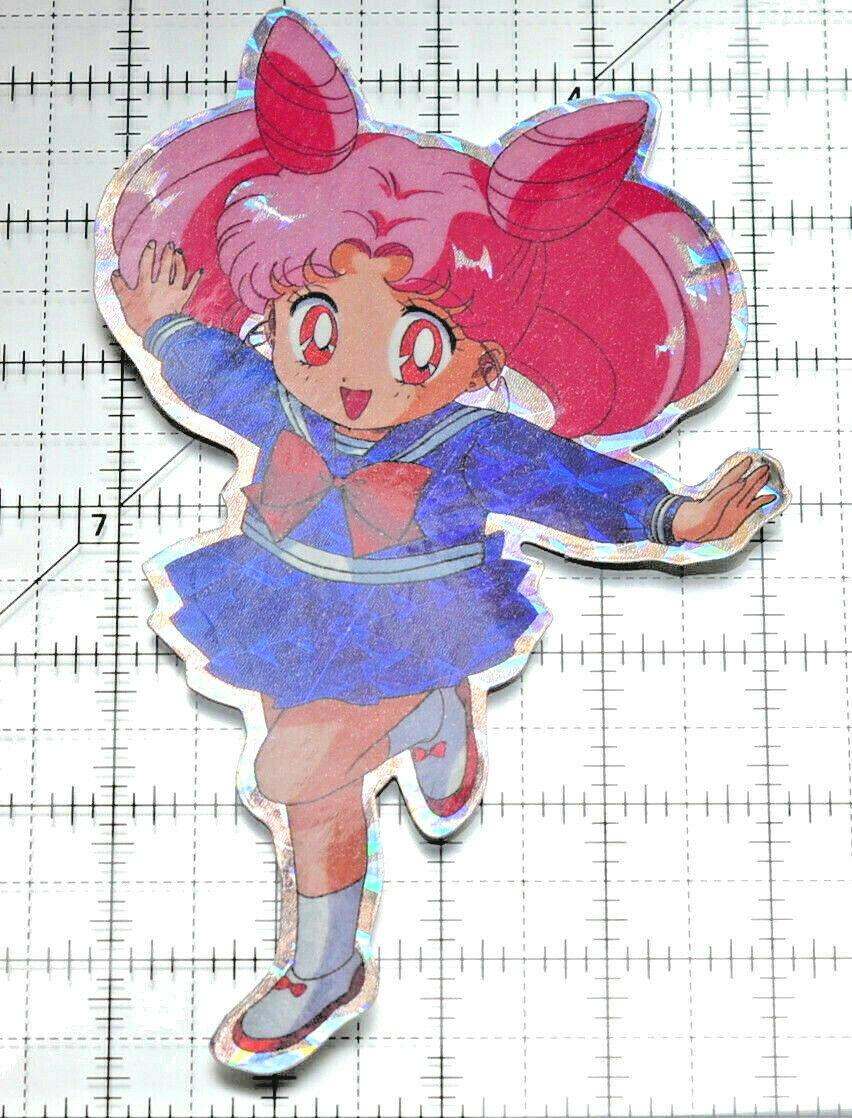 Sailor Moon large prism sticker prismatic Rini Chibiusa Chibimoon decal - $12.86