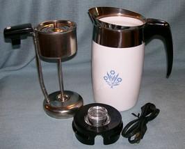 Corning Ware BLUE CORNFLOWER Electric Coffee Pot/Percolator 6 cup P-6-EP VGVC  image 1