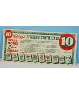 Vintage 1952 Prize Point Coupon Dividend Certif... - $18.52