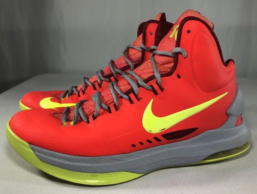 new product 2e3fd 7ae7d ... Nike KD V 5 Bright Crimson Volt-Grey DMV Men s 10.5 Kevin Durant Air ...