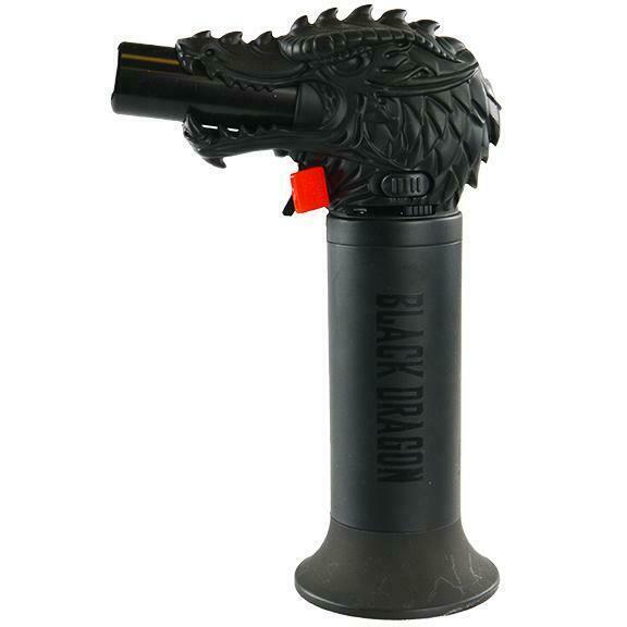 Black Dragon Head Jumbo Torch REFILLABLE Butane Lighter - One Lighter