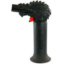 Black Dragon Head Jumbo Torch REFILLABLE Butane Lighter - One Lighter image 1
