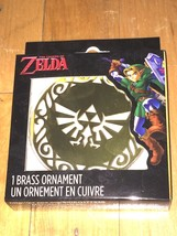 NEW The Legend of Zelda Brass Hyrule Crest Christmas tree ornament official - $9.49
