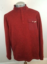WOOLRICH Sweater Knit Fleece Pullover Jacket Heathered Red Men's Size XX... - $28.04