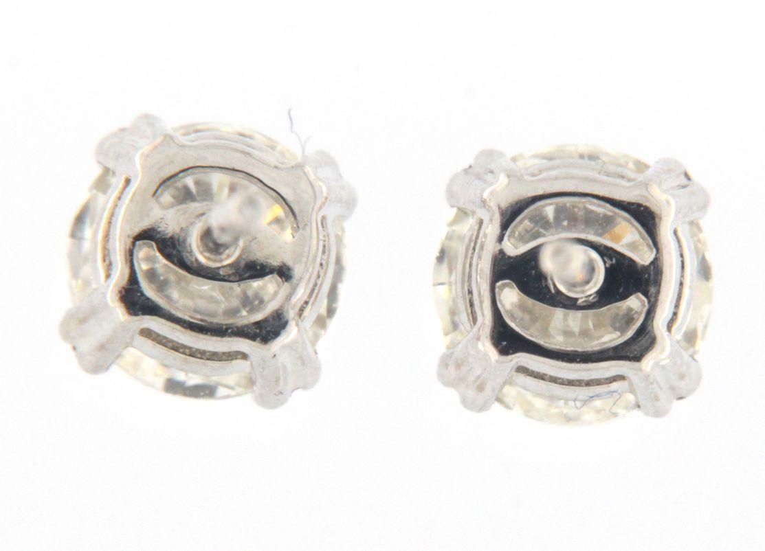 Unisex 14kt White Gold Earrings