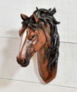 """10"""" Brown & White Horse Head Mount Wall Decor Polyresin NEW - $39.59"""