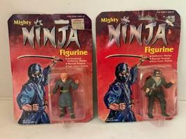 2 Different Hasbro Mighty Ninja Figurine Martial Posed & Articulated NIB... - $26.53
