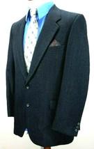 YVES SAINT LAURENT Mens 40R CHARCOAL GRAY WOOL WINDOWPANE Blazer/2-VENT ... - $34.29