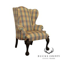 Drexel Heritage Chippendale Style Mahogany Ball and Claw Wing Chair - $965.00