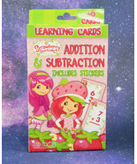 Strawberry Shortcake ADDITION & SUBTRACTION Learning Cards, Includes STI... - $7.35