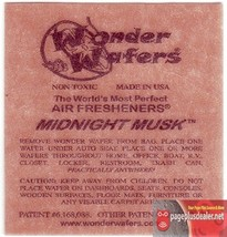 16- Wonder Wafers MIDNIGHT MUSK~ Scent~Amazingly Fresh~ Air Freshener Ca... - $7.69