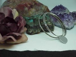 """3 Sterling Bangle Bracelet Heart Charm 7"""" Vintage 18.3 Grams Danecraft - $94.05"""