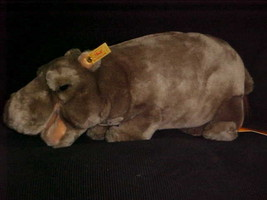 """15"""" Steiff Mocky Hippopotamus Plush Toy With Tags Number 063466 From 1996 - $98.99"""
