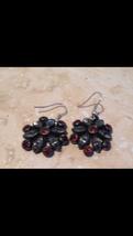 vintage jewelry 1940's converted flower earrings to pierced earrings - $49.99