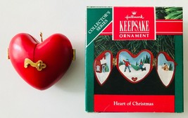 Heart of Christmas Hallmark Heart Shaped Ornament with Winter Scenes in ... - $12.59