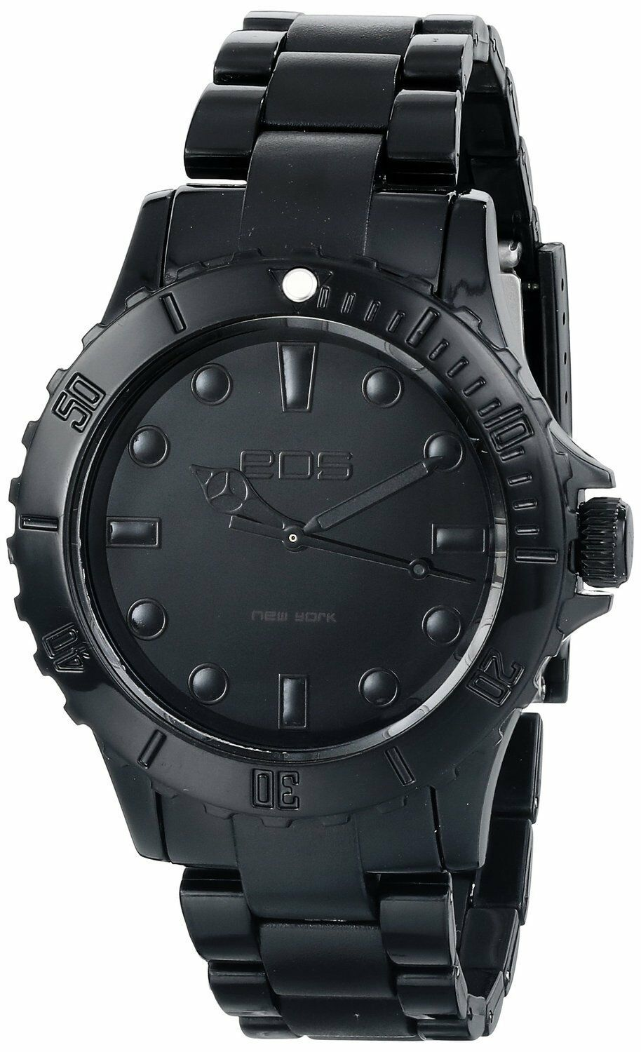 EOS New York Unisex Marksmen Plastic Black Quartz Analog Watch #359SBLK