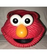 Sesame Street Elmo Hard Solid Plastic Halloween Easter Bucket Pail Appla... - $19.79