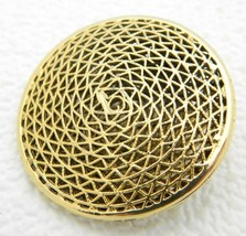 VTG RARE VENDOME Gold Tone Filigree Openwork Circle Brooch Pin - $74.25
