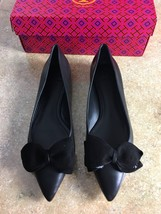 Tory Burch Rosalind Ballet Flat Black Leather Size 10 - $173.25