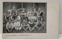 SCARCE Wellsboro Pa The FAMOUS BACHE HOSE Running Team Photo Postcard VE... - $95.98