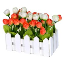 George Jimmy Artificial Flowers Arrangement Room Components Wood Fence Floral De - $17.23