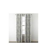 (1) JC Penney Sullivan Blue Floral Blooms Blackout Grommet Curtain Panel... - $38.60