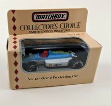 Matchbox Collectors Choice No 13 Grand Prix Racing Car Blue White Shell ... - $11.29