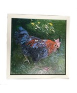Original Oil Painting California Bodega Bay Clucking Chicken Farm Sorensen - $396.00