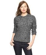 GAP Women's Cable Metallic Sweater Acrylic Wool Charcoal Heather, M, Pre... - $16.14