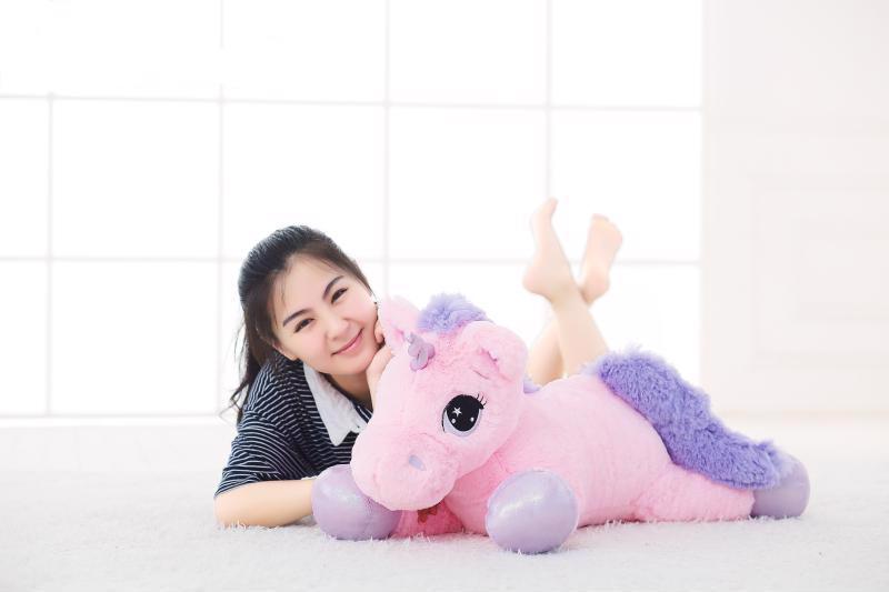 65CM Unicorn Plush Toy Soft Stuffed Cartoon Dolls Animal Horse High Quality Toys