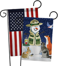Lodge Snowmen - Impressions Decorative USA - Applique Garden Flags Pack ... - $30.97