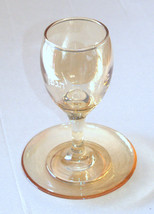 Judaica Kiddush Cup Glass Goblet Saucer Shabbat Clear Gold image 2