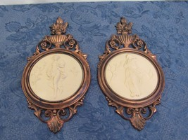 Vintage Coppercraft Guild Ladies Maidens Seasons Spring Winter Wall Plaques - $28.82