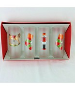 Dartington France Frosted Cooler Highball Christmas Glasses Holiday Nutc... - $39.55