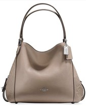 NWT COACH Stone Edie Shoulder Bag 31 With Tea Rose Tooling MRSP $450.00 - $261.79