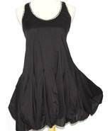 S Black Lolita Gothic Goth Beaded Rockabilly Cotton Bubble Steam Punk Mi... - $18.80