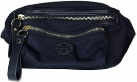 Tory Burch Womens Navy Blue Nylon Belted Fanny Pack Waist Side Bag 8016-7 - $187.61