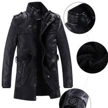 Men's Fashion Tops Leather Jackets Winter Coats Trench Coats Peacoats Wa... - $43.14