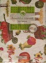 Autumn Harvest Family Friends Vinyl Flannel Back Tablecloth - €7,70 EUR