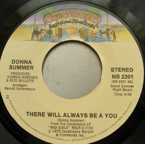 DONNA SUMMER Dim All the Lights /There Will Always Be a You -Casablanca NB 2001