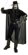 THE V FOR VENDETTA HALLOWEEN COSTUME ADULT EXTRA LARGE - $70.60