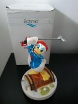 Vintage Disney Schmid Donald Duck Golf Music Box Figurine Whistle A Happ... - $98.95