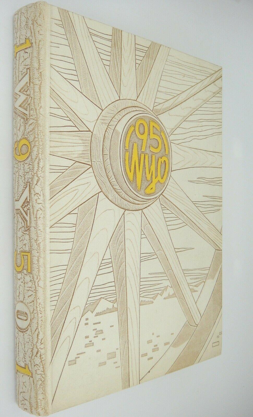 University of Wyoming 1951 Wyo Yearbook Volume XXXVIII Laramie White Embossed