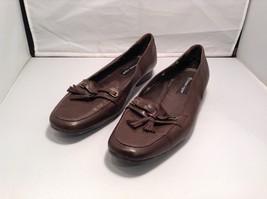 Women's Etienne Aigner Brown Leather Flats w Rubber Soles Sz 9.5M