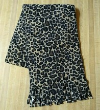 "Merona Scarf Oblong Women's 56"" Leopard Animal Print Rectangle Fringed F... - $13.86"