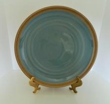 "Noritake Stoneware Dinner Plate Madera Spruce Pattern Blue Green 10 1/4""... - $18.69"