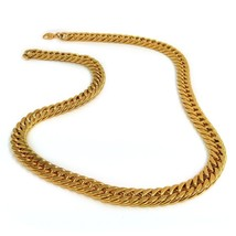 Mens Jewelry Fashion 18K Gold Plated Necklace Curb Chain Necklace 55CM10 - £51.73 GBP